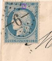 GC 6 LES ABRETS Isère Sur Cérès N°60A Variété Et Centrage Parfait. LAC écrite De CHIMILIN. 1871. - 1871-1875 Cérès