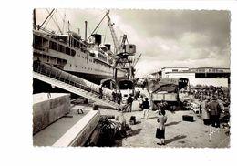 """Cpsm - 76 - LE HAVRE - Gare Maritime -""""L'ile De France"""" Accosté Quai Joannès Couvert 1950 Bateau Camion Grue Vélo - Le Havre"""