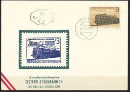 Österreich  -  FDC   1962    Mi Nr.  1126   125 Jahre Österreichische Eisenbahnen - FDC