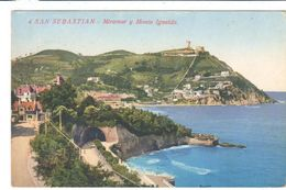 POSTAL    -SAN SEBASTIAN  -PAIS VASCO  - MIRAMAR Y MONTE IGUELDO - Guipúzcoa (San Sebastián)