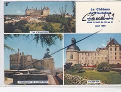 Le Château De HAUTEFORT(24)Détruit Par Un Incendie Dans La Nuit Du 30 Au 31 Août 1968(vue D'ensemble,l'Esplanade Et Pont - Frankreich