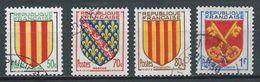 FRANCE 1955 . Série N°s 1044 à 1047 . Oblitérés . - France
