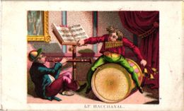 12 Trade Cards Music Instruments Trommeln Percussions Drumming Grosse Caisse C1890 Litho - Sonstige