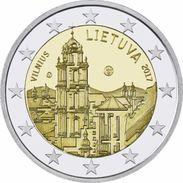 "LITUANIA  LIETUVA LITHUANIA 2€   2.017  2017  ""Vilna (VILNIUS) Capital De La Cultura ""  BIMETALICA  SC/UNC   T-DL-1 - Lituania"