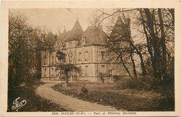 - Depts Div.-ref-UU09- Deux Sevres - Mauze Sur Le Mignon - Parc Et Chateau Michelin - Chateaux  - Carte Bon Etat - - Mauze Sur Le Mignon