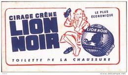 -BUVARD -   CIRAGE LION NOIR Fond Rose Oublié Par Scan   FOND ROSE QUELQUES TACHES - Produits Ménagers