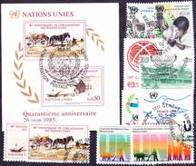 UNO Genf Geneva Geneve - Jahrgang 1985 Komplett (MiNr. 127/36 + Bl.3)  - Gest Used Obl - Usati