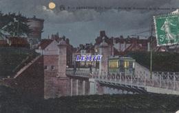 CPA  De DUNKERQUE  (59) -  PORTE De ROSENDAEL Et Le NOUVEAU PONT - La NUIT N° 3 - Dunkerque