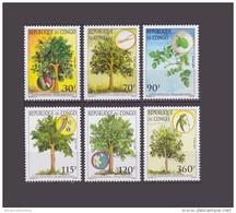 CONGO YT 1100/05 FULL SET TREES ARBRES TREE ARBRE  MNH ** VERY RARE - Congo - Brazzaville