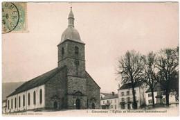 CPA Gerardmer; Eglise Et Monument Commémoratif (pk35497) - Gerardmer