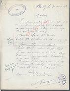 LETTRE AVEC TAMPON SOCIETE DES COURSES DE BUCHY 1950 : - Equitation