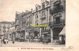 CPA HEIST HEYST  SUR MER HOTEL DU LION D'OR ET LA DIGUE - Heist
