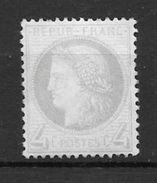 FRANCE CERES YVERT NR. 52 AN 1872 GRANDS CHIFFRES MNH - 1871-1875 Cérès