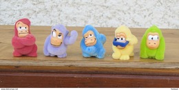 Kinder 2007 : Série Complète Les Gorilles Avec 1 BPZ (5 Figurines) - Lots