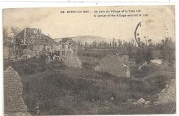 103. BERRY-AU-BAC . UN COIN DU VILLAGE ET LA COTE 108 . TIMBRE DECOLLE SUR RECTO - France