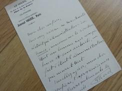 Edouard HERVE (1835-1899) Journaliste ACADEMIE FRANCAISE. Le Soleil. AUTOGRAPHE - Autographes