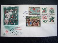 USA, United States, Christmas, 1964, Betlehem, PA, Block Of 4 Christmas Stamps + New Zealand 1964 + Canada 1898 - United States