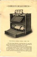 1 Folder Music Organs  Pub.Austin Organ  Company  New Console  Construction  Keys Open Type - Advertising