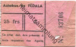 Marokko - Marokko - Autobus De Fedala - Fahrschein 50er Jahre - Chemins De Fer