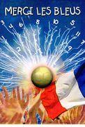 "FRANCE 2007 : Encart 1er Jour "" MERCI LES BLEUS "" N° YT 3936. Voir Les 2 Scans. - Fútbol"