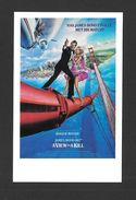AFFICHES - POSTERS - CINÉMA - JAMES BOND AGENT 007 -  US POSTER  ROGER MOORE - FOR A VIEW TO A KILL (1985) - Affiches Sur Carte