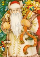 New Year Greeting Card By P. Shenhofs - Santa Claus - Gifts - Illustration - 1984 - Latvia USSR - Used - Anno Nuovo