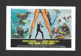 AFFICHES - POSTERS - CINÉMA - JAMES BOND AGENT 007 -  UK  POSTER  ROGER MOORE - FOR YOUR EYES ONLY (1981) - Affiches Sur Carte