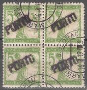 1919 - Verigari 5 Vinara Cetverac Sa Pretiskom PORTO MNH - 1919-1929 Kingdom Of Serbs, Croats And Slovenes