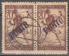 1919 - Verigari 20 Vinara Dvojac Sa Pretiskom PORTO MNH - 1919-1929 Kingdom Of Serbs, Croats And Slovenes