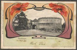 Gardelegen, Salzwedeler Thor, Schöne Karte Mit Jugendstil Verzierung Aus 1900, Nach Magdeburg - Gardelegen