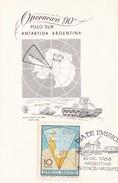 OPERACION 90° POLO SUR 1966 FDC - ARGENTINA/L'ARGENTINE - RARE - BLEUP - Poolfilatelie