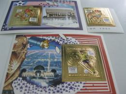 Guinea-1993-sports Space,soccer World Cup 94 GOLD-MI.1463,BL.485,486 - Guinea (1958-...)