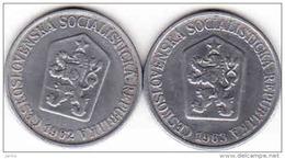 Tschechoslowakei - Tchécoslovaquie 2 X 25 Halier, Haler 1962 + 1963 - Tschechoslowakei