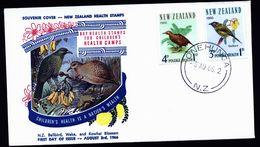 A4925) New Zealand Neuseeland FDC Vögel Birds 1966 - Vögel