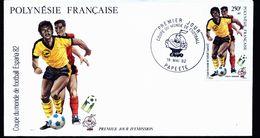 A4926) Franz Polynesien FDC Football 1982 WM Espana - 1982 – Espagne