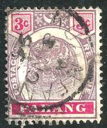 Pahang 1895 3c SG14 - Used - Pahang