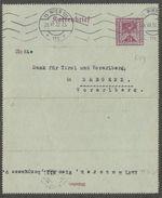 15 WIEN 101 Auf Kartenbrief 25 Kronen Weinrot (KB Für Fernverkehr), Gebraucht 28.VII.22, > Bregenz. Sehr Seltenes Stück. - Enteros Postales