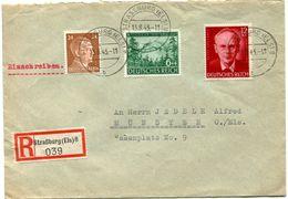 Vr 5_28 Lettre Recommandée Oblitérée STRASSBURG  Elsass 13.8.43 - Allemagne