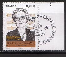 France 2017.Nadia Boulanger.Pianiste.Chef D'Orchestre.Cachet Rond Gomme D'origine. - France