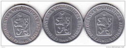 Tschechoslowakei - Tchécoslovaquie 3 X 10 Halier, Haler 1968 + 1969 + 1971 - Tschechoslowakei