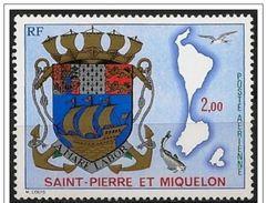 St. Pierre Et Miquelon: Stemma Nazionale, Armoiries National, National Coat Of Arms - Francobolli