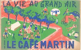 Buvard Vloeipapier - Le Café Martin - La Vie Au Grand Air - Scouts - Scoutisme - Kaffee & Tee