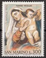 """982 San Marino 1976 """"Pala Ca' Pesaro (Dettaglio : Maternità)"""" Quadro Dipinto Tiziano Vecellio Titian Nuovo MNH Paintings - Quadri"""