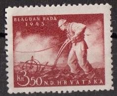 81 Croazia 1945 Labor Day   Nuovo  NDHRVATSKA - Altri