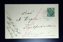 AUSTRIA: KuK Postcard Etappenpost In Poland  Chmielnik 1916 To Frankfurt Censor Cancel Busk F2 - 1850-1918 Empire