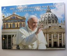 VATICANO 2017 - BUSTA FILATELICO-NUMISMATICA , MARTIRIO DI SAN PIETRO E PAOLO - Vaticano (Ciudad Del)