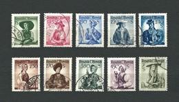 AUSTRIA 1951-52 - Costumi Nazionali - 10 Valori - Mi:AT 912-980x - 1945-.... 2a Repubblica