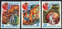 USSR Russia 1980 Havana Intercosmos Cooperative Space Flags Space Intercosmos Spacemen Stamps MNH Mi 4994-96 SG#5035-7 - Stamps