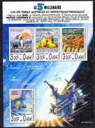 TAAF 2000 Le 3e Millenaire M/s ** Mnh (36825) - Blokken & Velletjes