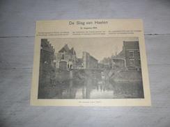 Origineel Knipsel ( 389 ) Uit Tijdschrift    :  De Slag Van Haelen ( Halen )  12 Augustus 1914  Oorlog  Guerre - Vieux Papiers